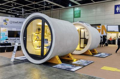 Exterior of O-Tube housing prototype, Hong Kong