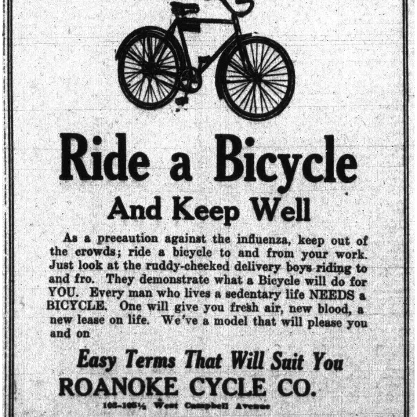 Ride a bicycle!