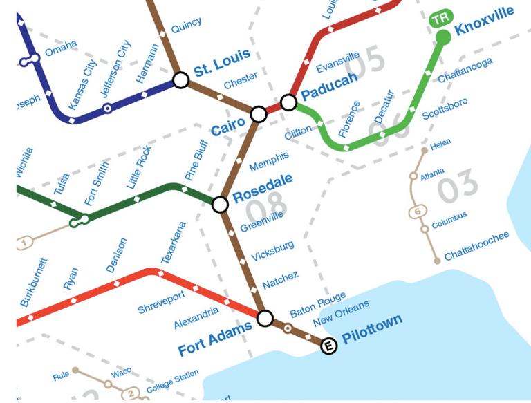Echa un vistazo a este mapa de los ríos de Estados Unidos inspirado en el metro