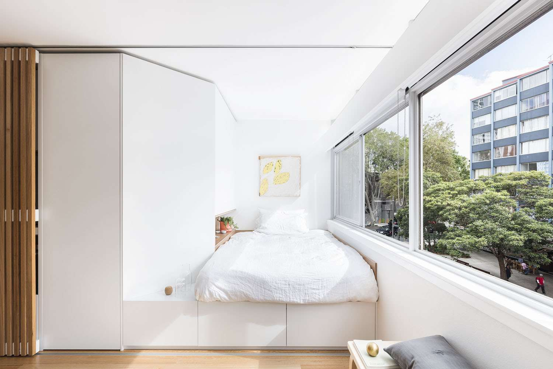 boneca micro-apartment brad swartz architect bedroom
