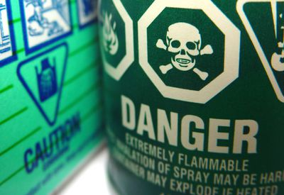 household hazardous waste safety warning labels