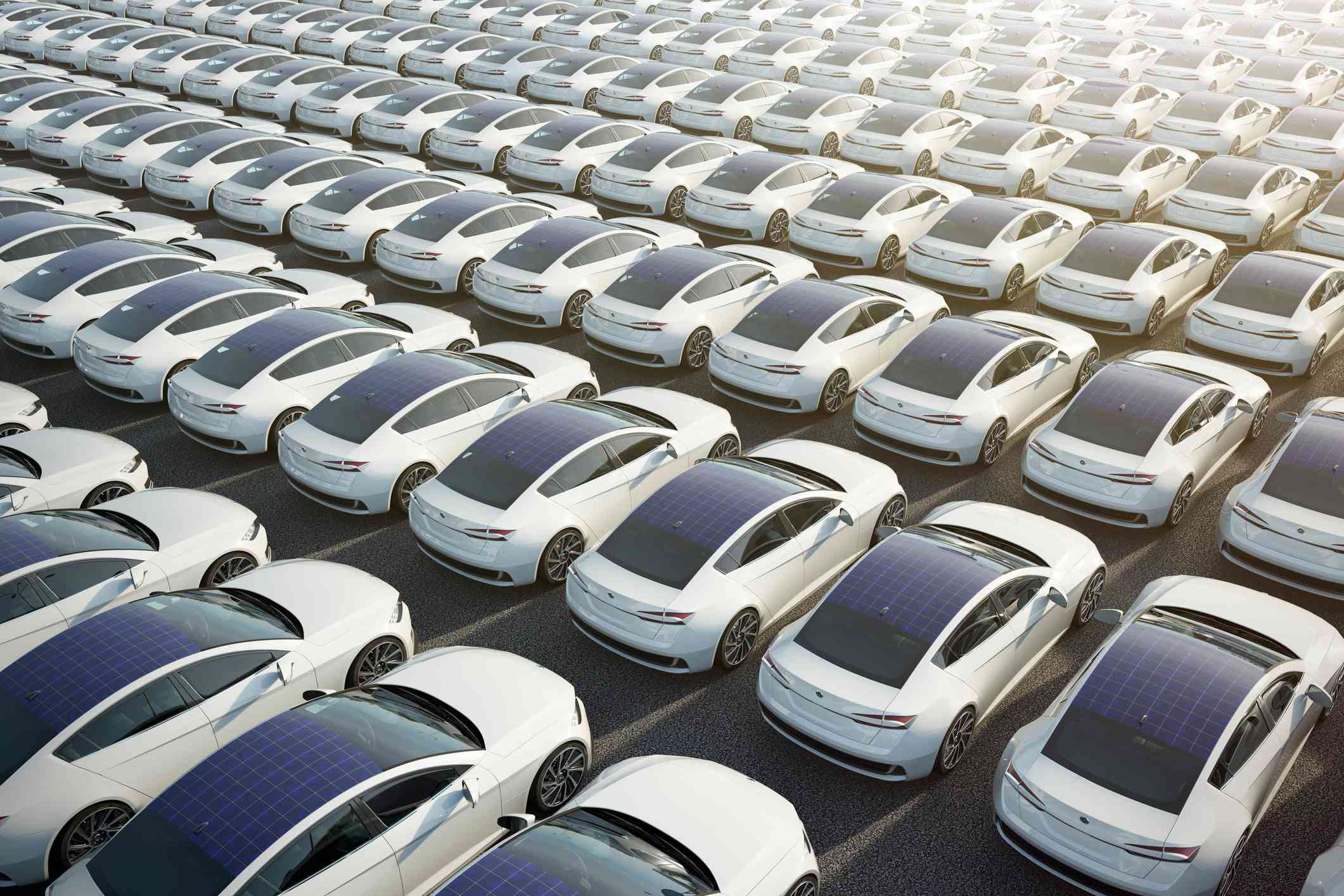 EVs covered with solar panels