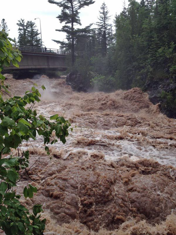 Duluth flood Lester Creek -- normally a fun place to go rock hopping
