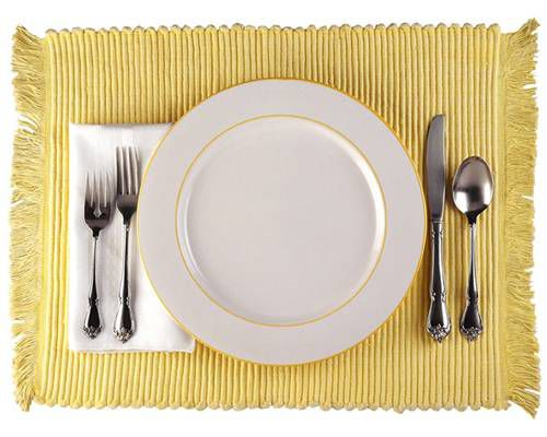 Place setting on a white background