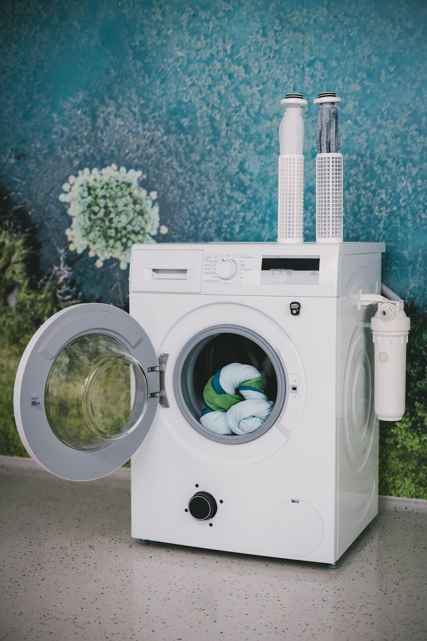 PlanetCare washing machine with filter