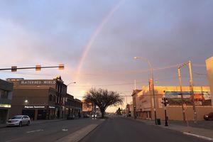 Early morning in downtown Moosejaw, Saskatchewan, Canada