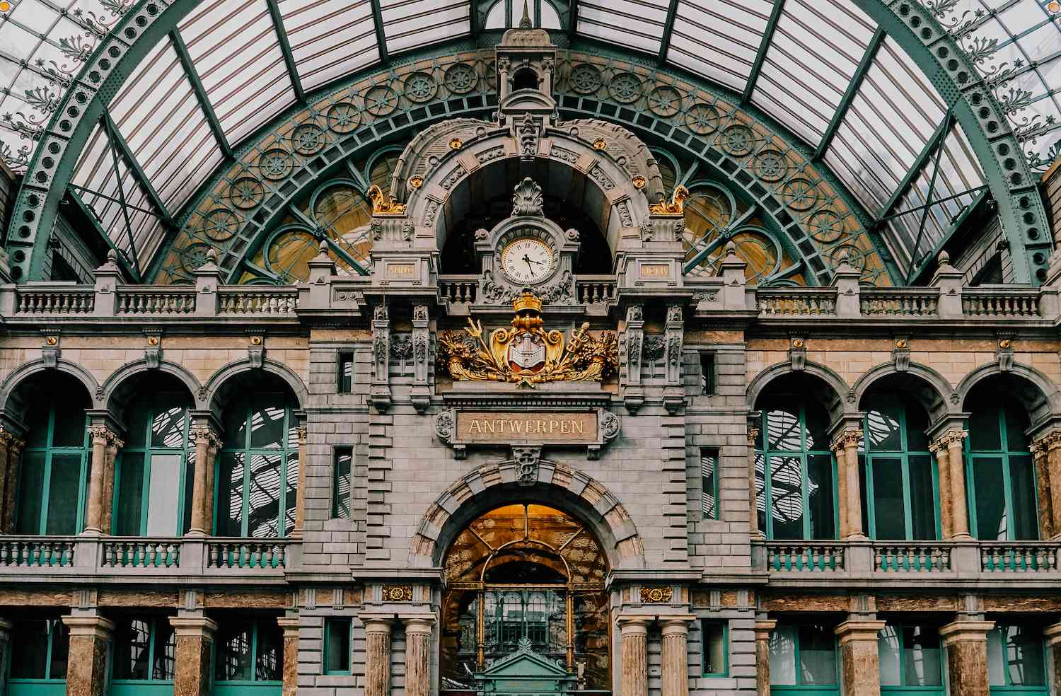 The palatial design of Antwerp Central Station