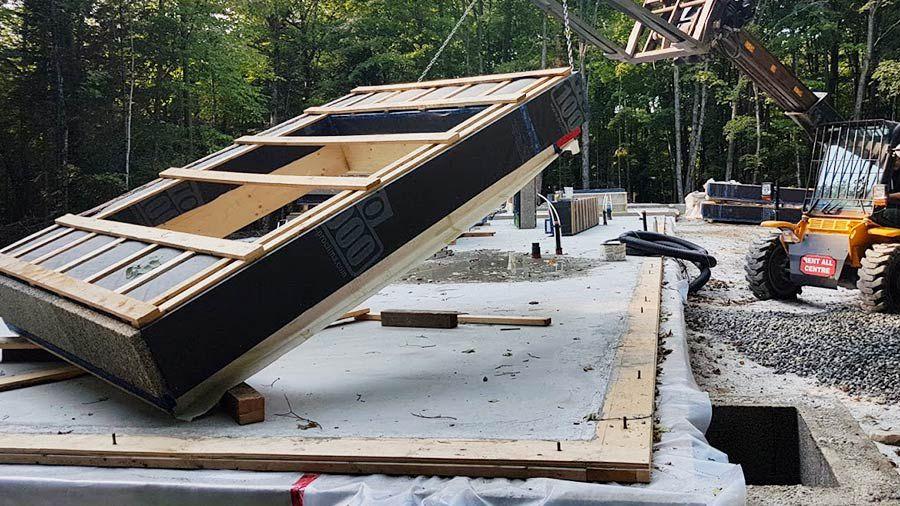 Panels on site