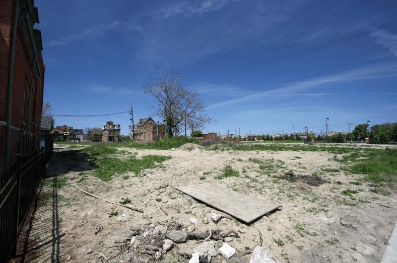 Vacant lot, Brush Park, Detroit