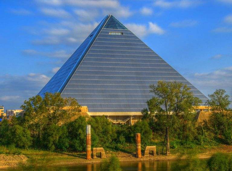 A modern day pyramid in Memphis
