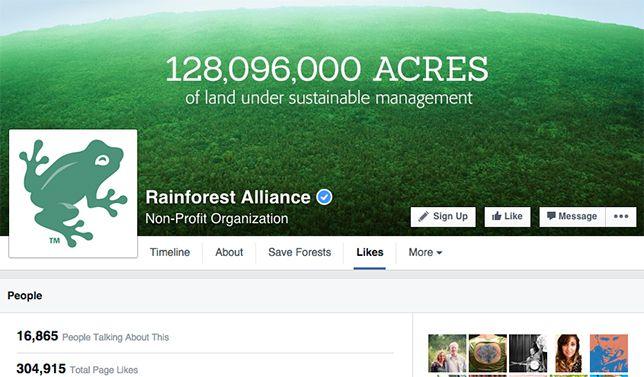 Rainforest Alliance on Facebook