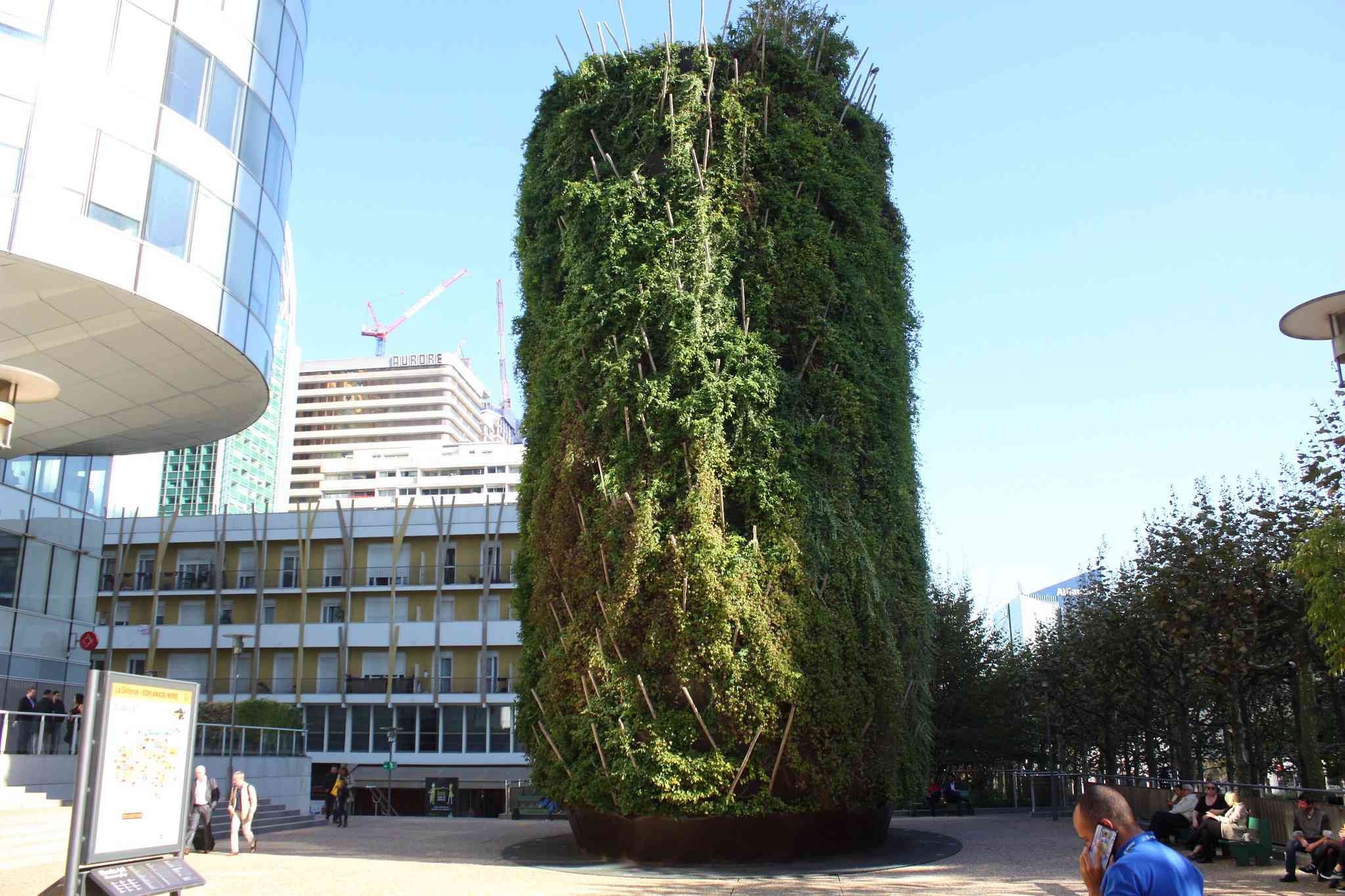 A chimney covered in plants in Paris.