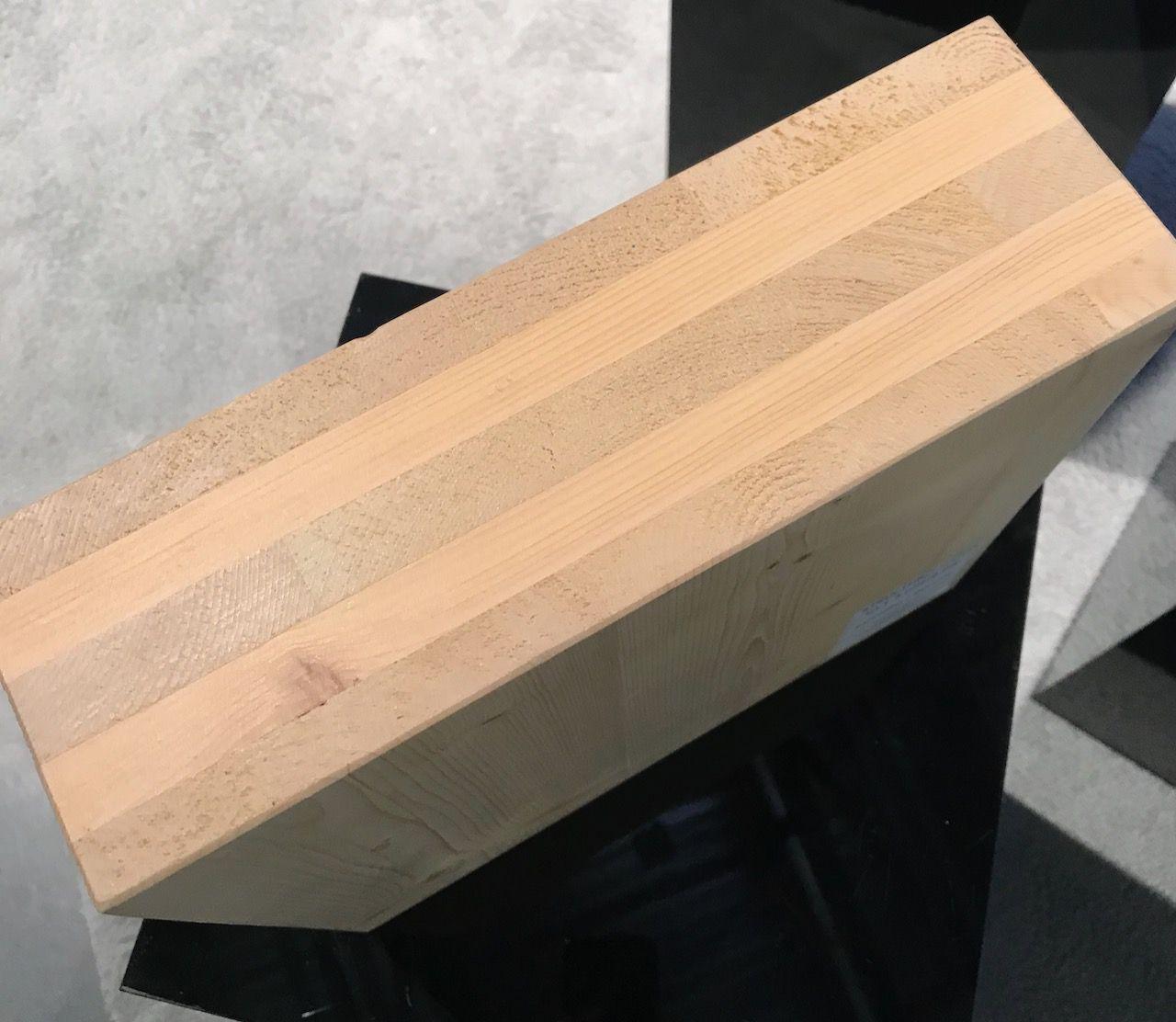 Block of cross laminated timber