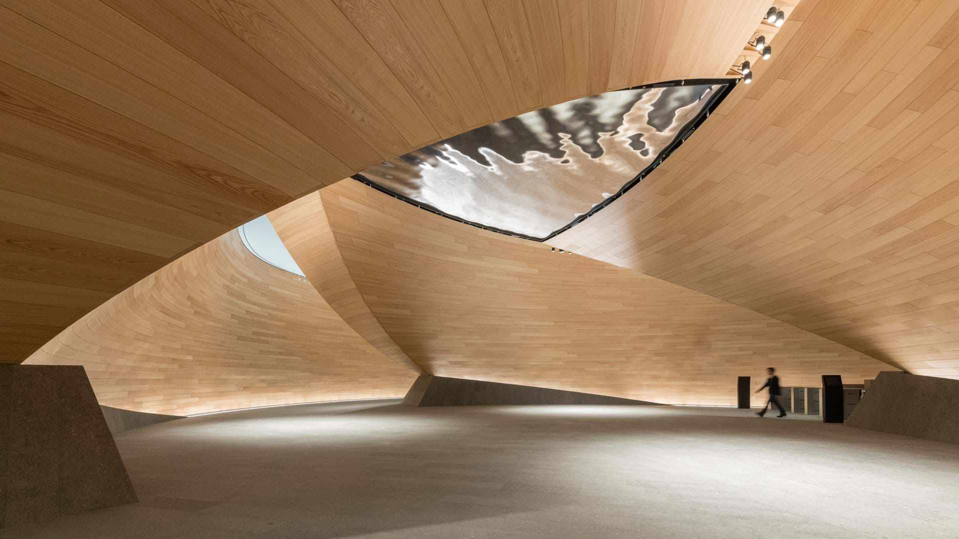 bloomberg interior lobby and stair