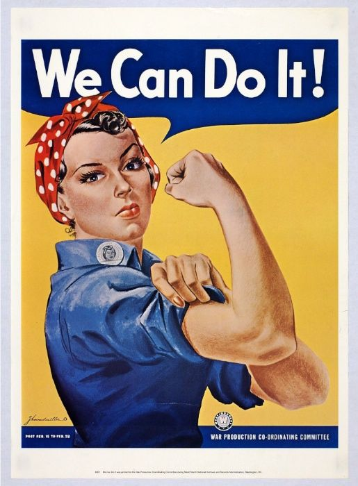 A poster of Rosie the Riveter