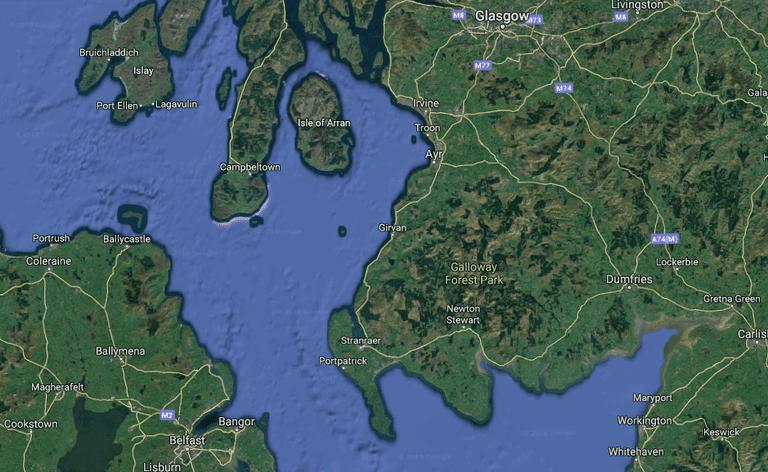 Arquitecto respetado propone un puente que une Escocia e Irlanda (y nadie se ríe)