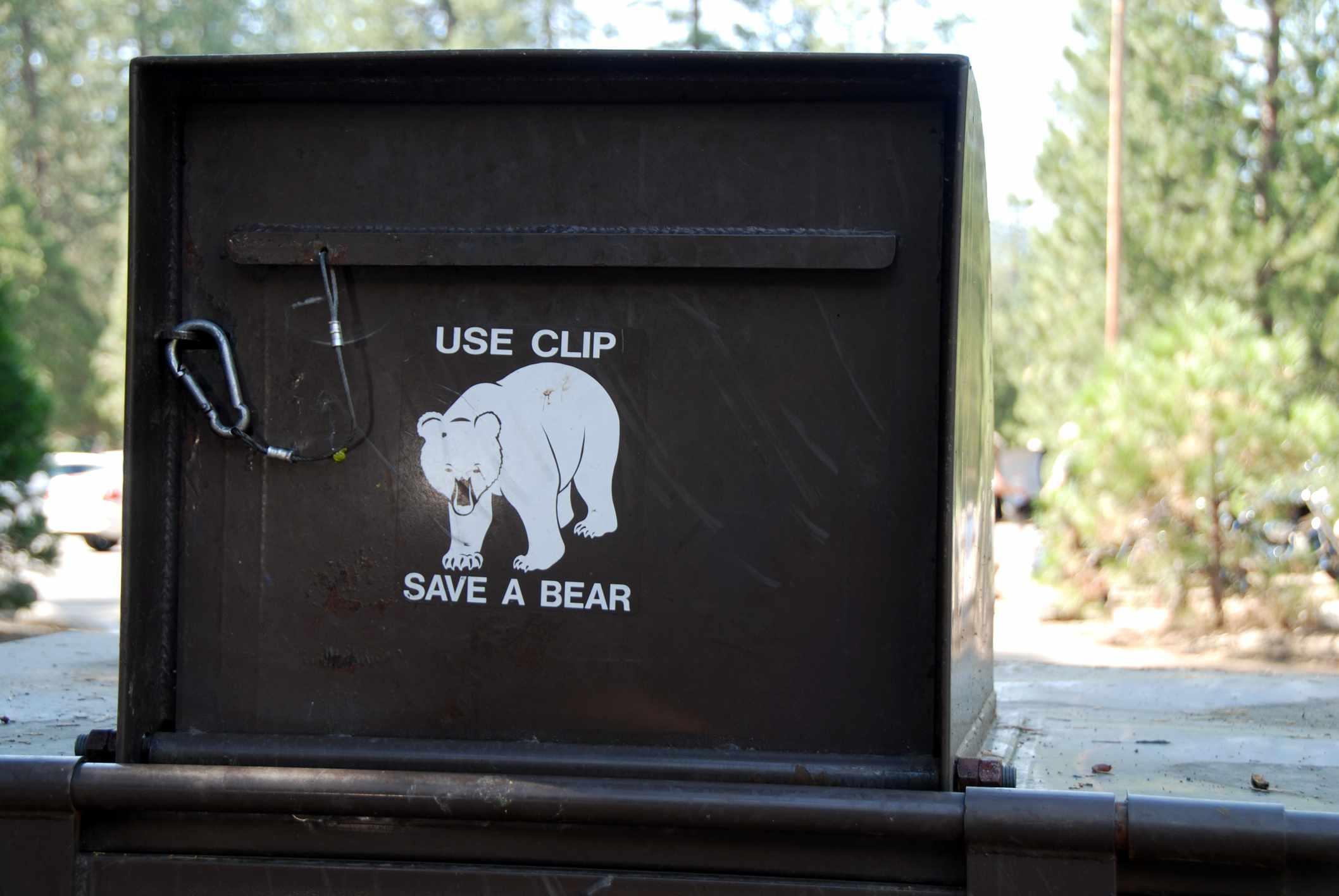 Wildlife-proof garbage bin in Yosemite National Park