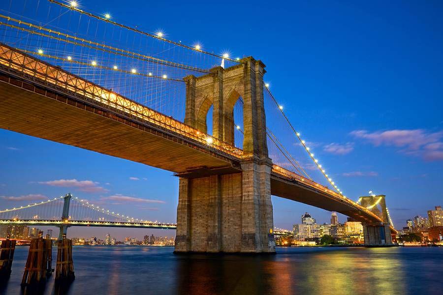 Blue Hour: Brooklyn Bridge, NYC