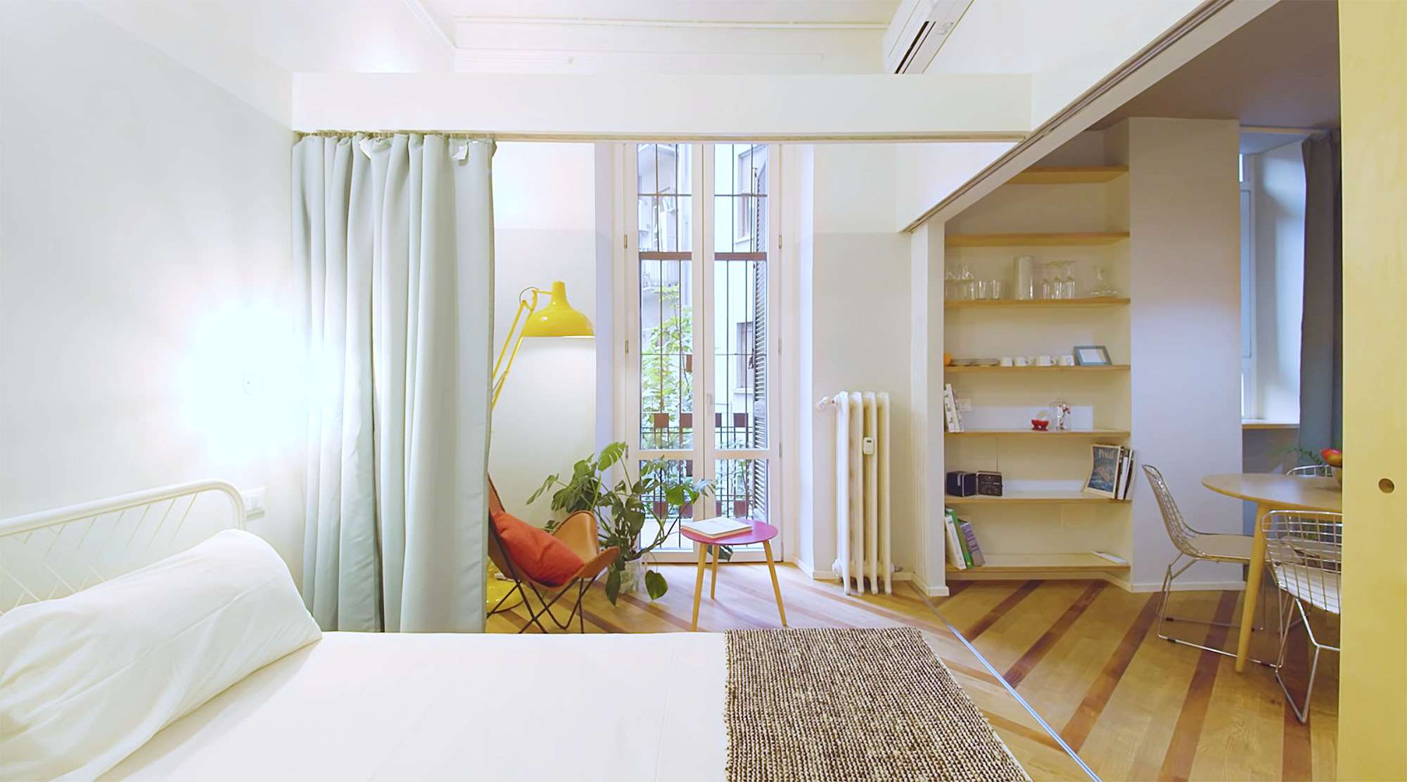 House In Constant Transition small apartment renovation ATOMAA bedroom