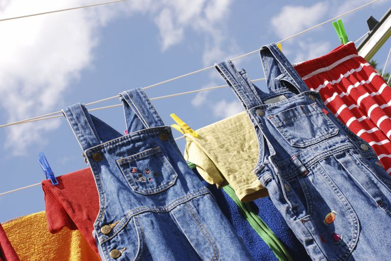 Drying laundry on a line instead of in a clothes dryer is good for the environment.
