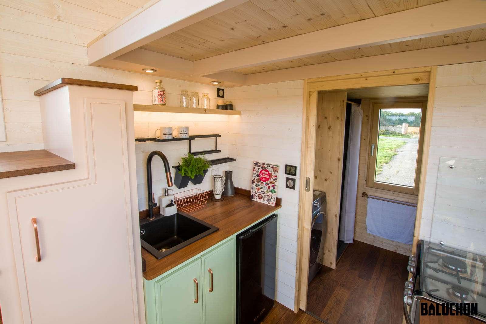 view of kitchen sink