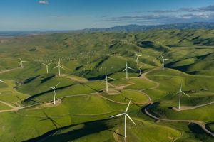 A 48 turbine windfarm in Northern California