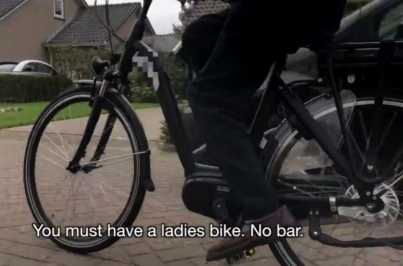 Brasjen's bike with low entry