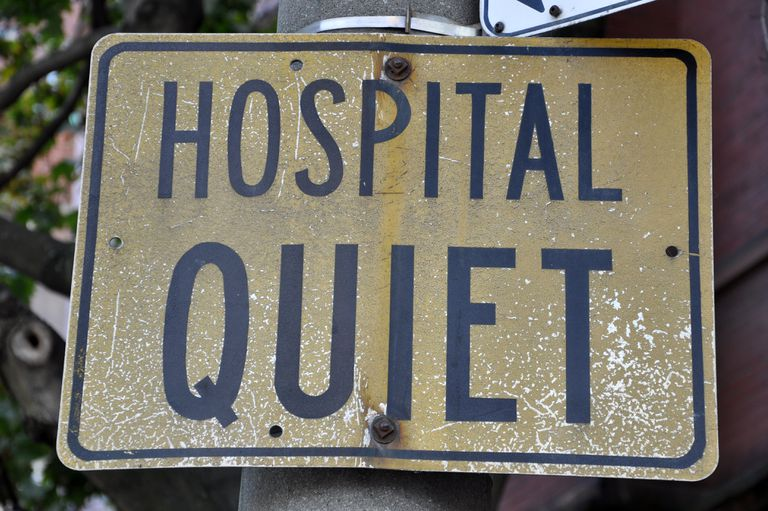 Quiet sign hospital zone