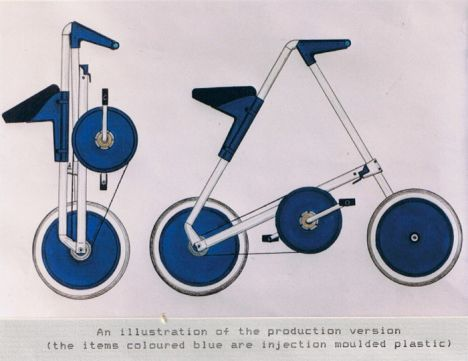 strida bike drawing image