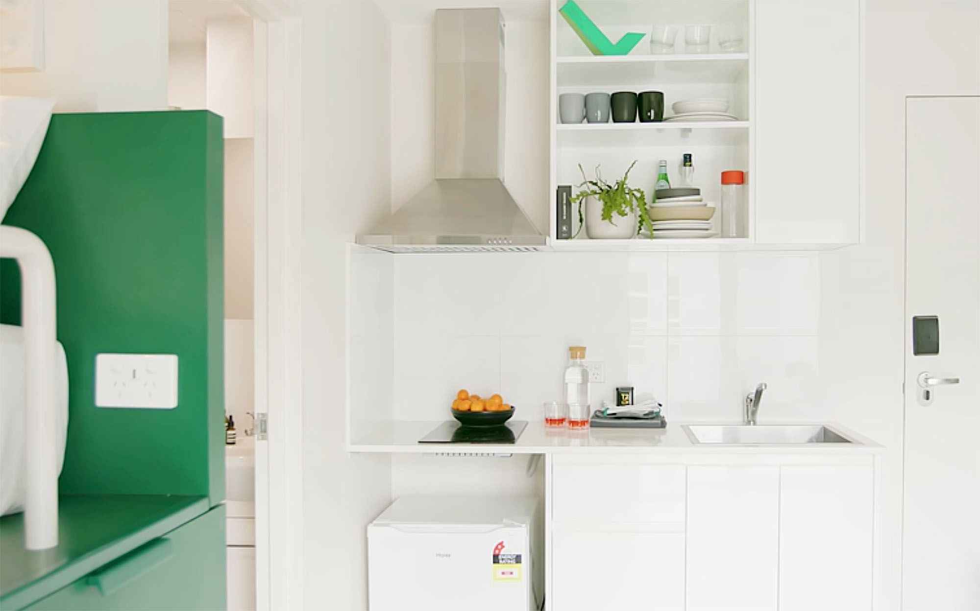 UKO stanmore coliving micro-apartment Mostaghim Associates kitchenette