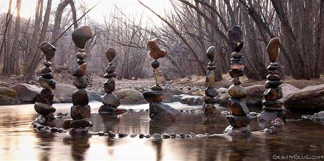 Balanced stone circle