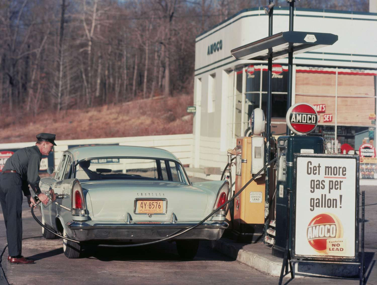 What is emitting here, Amoco or the Chrysler?