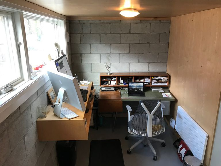 Small basement home office