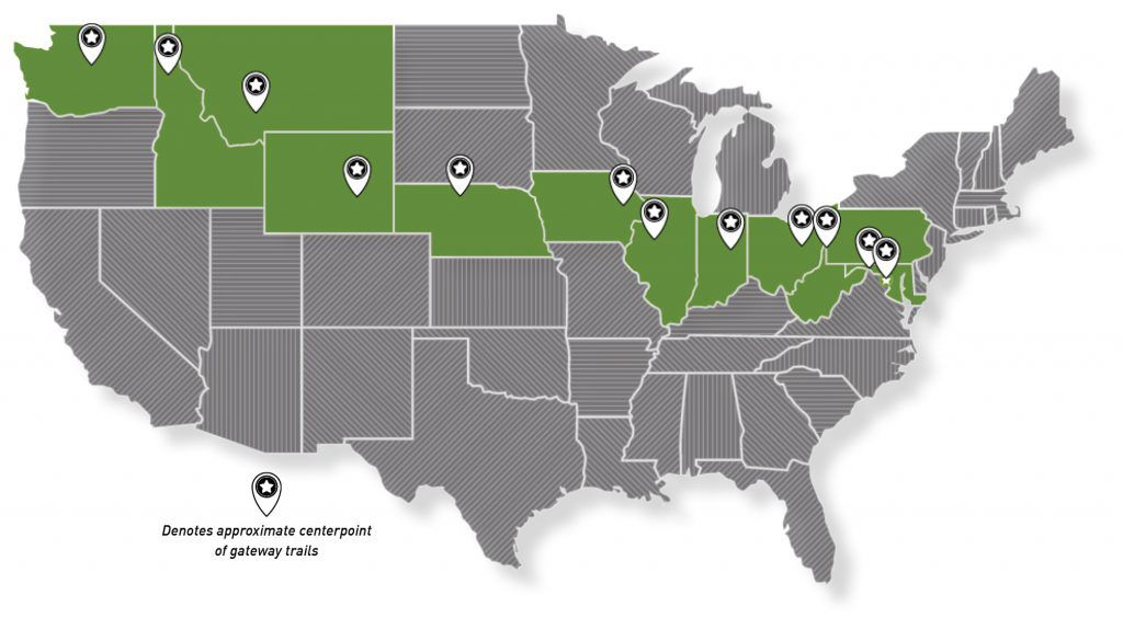 Map of Great American Rail-Trail