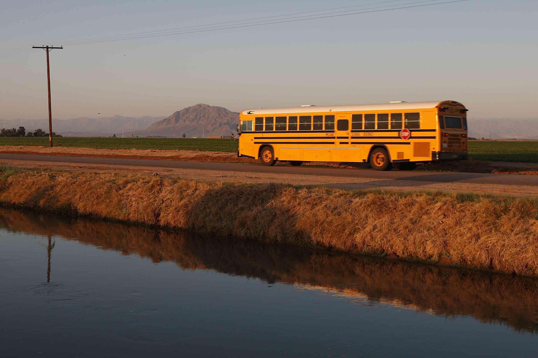 A bus in California