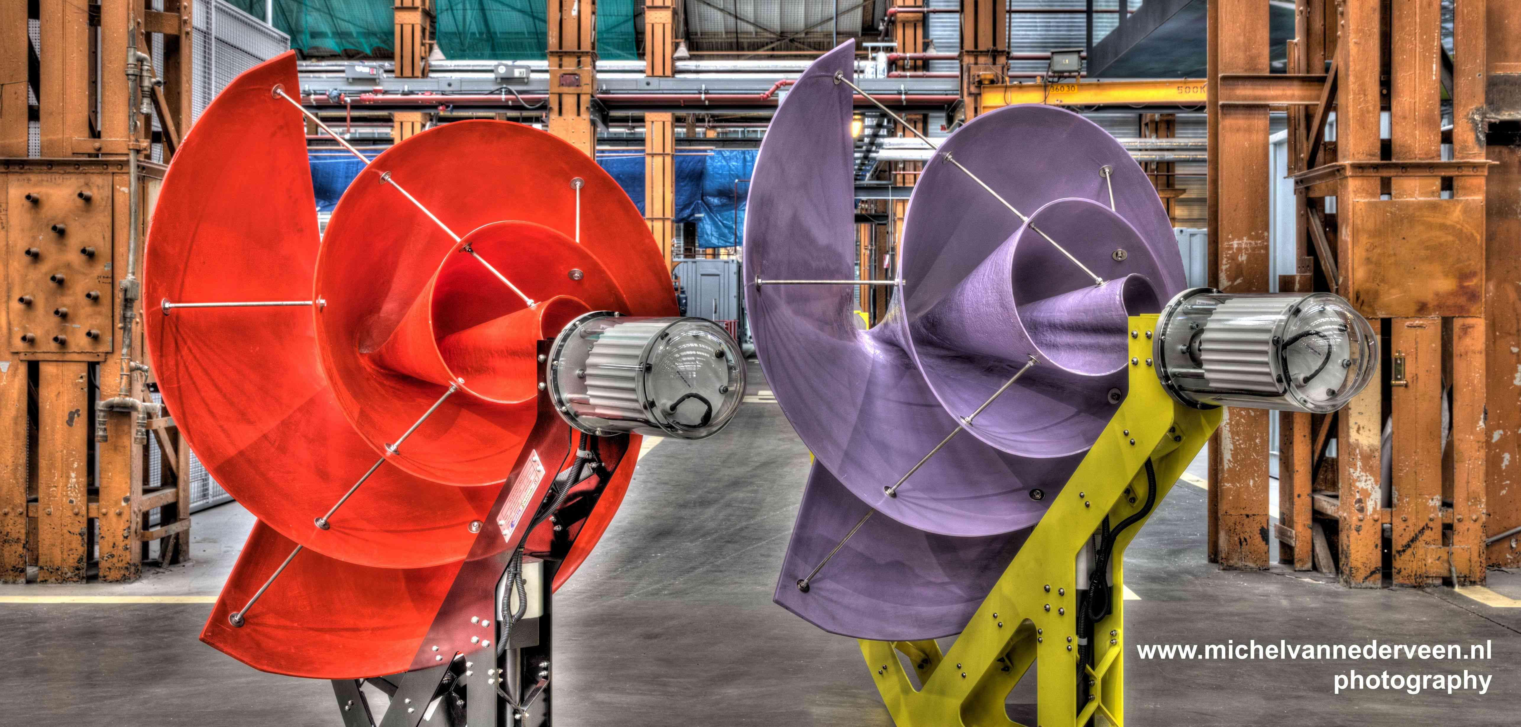nautilus-shaped silent rooftop wind turbine