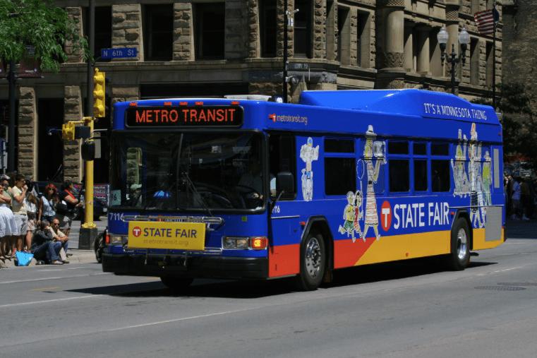 A Metro Transit bus in Minneapolis