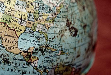 gulf on globe photo