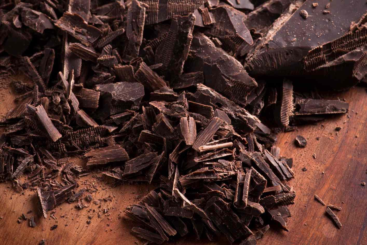 Shaved dark chocolate