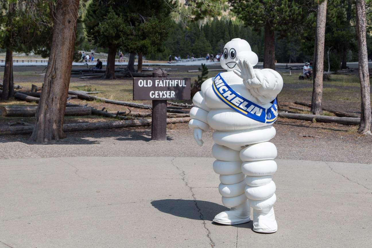 Michelin Man at Old Faithful