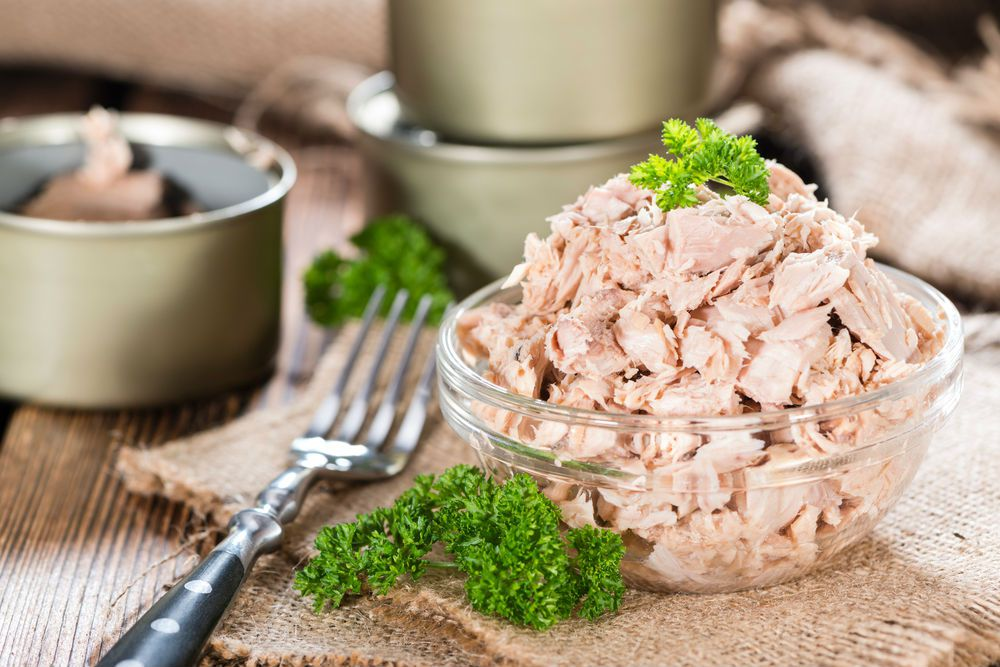bowl of Canned tuna high in vitamin D
