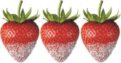 strawberries dipped in sweetener known under the aliases stevia rebiana truvia zevia or purevia image