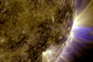 Closeup of the Sun's solar storms and magnetic loops.