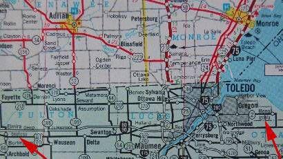 fake Michigan Ohio towns