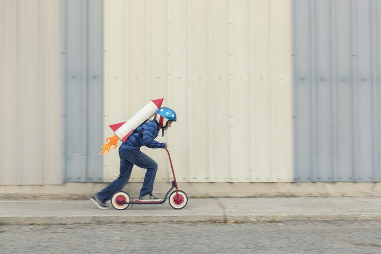 boy on a scooter