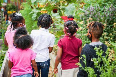 Kids in the garden.
