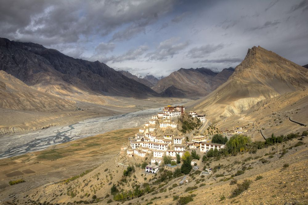 Key Monastery in the Spiti Valley of India