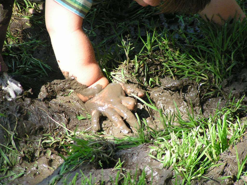 muddy toddler