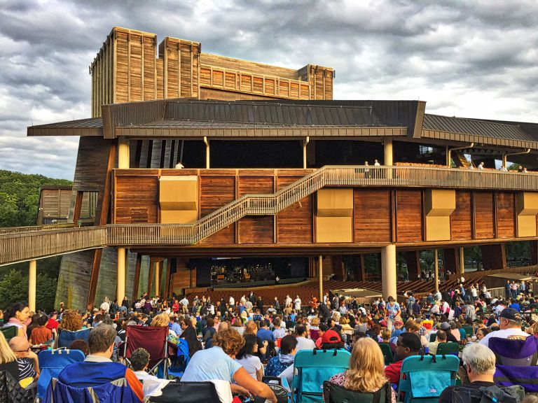 The wood concert hall at Wolf Trap National Park for Performing Arts.