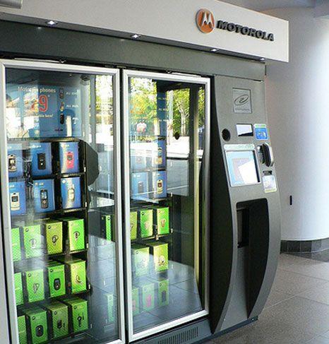 cell phoen vending machine photo
